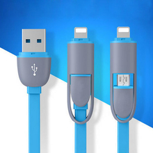 Quick Charging 2 in 1 for iPhone, Android Charger USB Cable