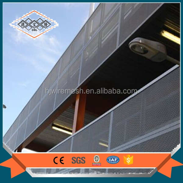 architecture decoration perforated metal/ builing facade perforated metal mesh