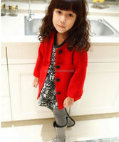 New Winter korean Girl Coat Fashion Long Winter Coats for Girls Outwear Baby Wear Kids Clothing Free Shipping OC41211-5