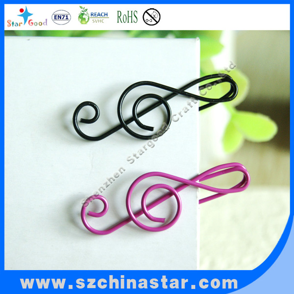 High quality promotional gift plastic coated paper clip