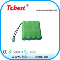 High quality ni-mh rechargeable battery aa 4.8v 1200mah