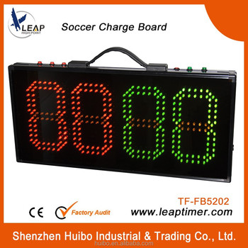 Football game injury time display boards