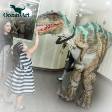 OA5269 Multipurpose amusement zigong latex dinosaur costume hidden legs