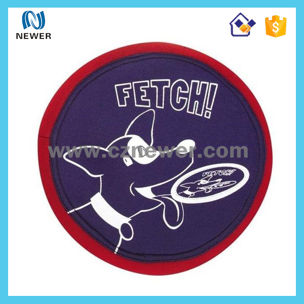 Wholesale stylish neoprene dog toy frisbee for training