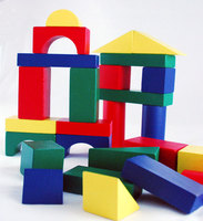 wooden kids building block toys with custom logo printed