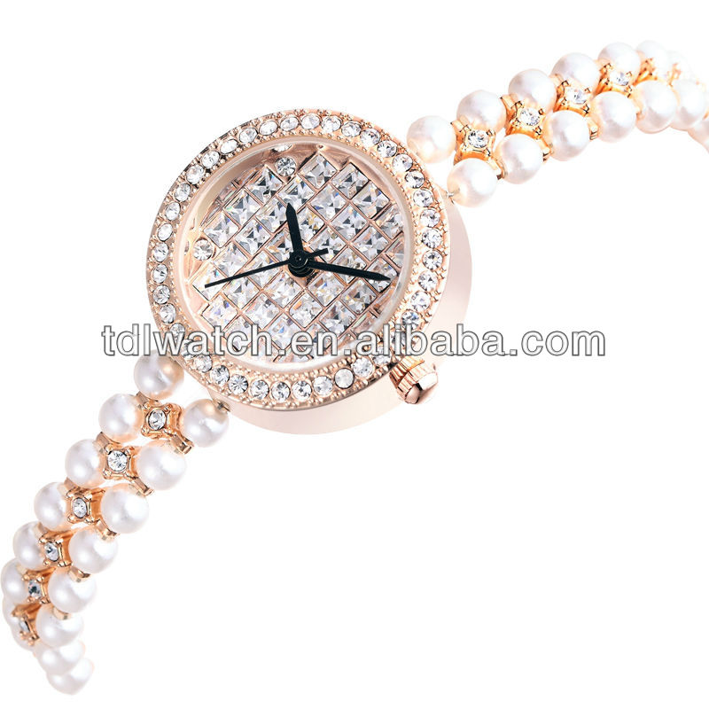 W4783 Luxury pearl bracelet watch sex girls with animal