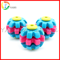Three Colors Spin Ball Pet Chew TPR Dog Toys