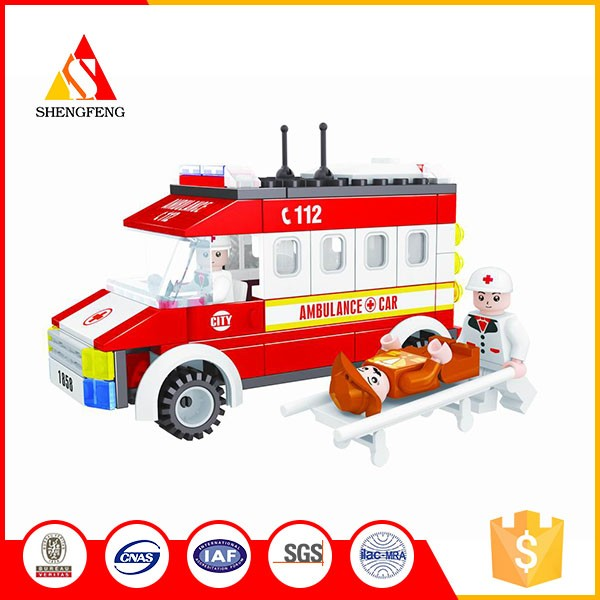 building blocks for ambulance car education toys blocks