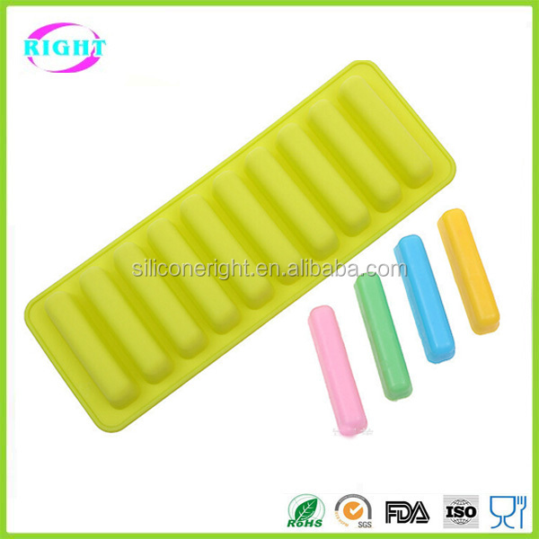 10 cavity silicone fingers biscuit chocolate mould/finger shaped cake molds
