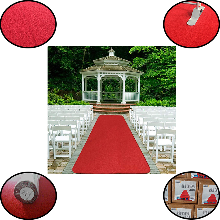 Oem Walkway Outdoor Commerical Anti Slip Red Carpet For Stair