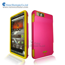 2014 novelty mobile phone accessories factory in China PC silicone combo case for Motorola X MB810