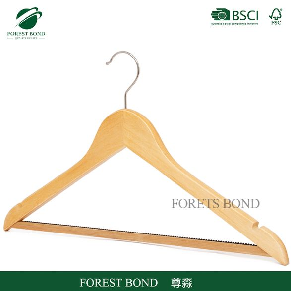 Best price new arrival garment displaying hanger wooden hanger