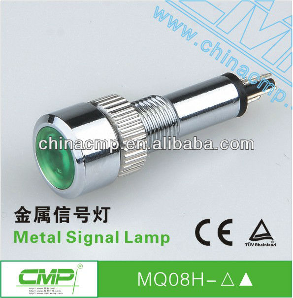 CMP diameter 8mm metal waterproof 12v led indicator light( IP67)