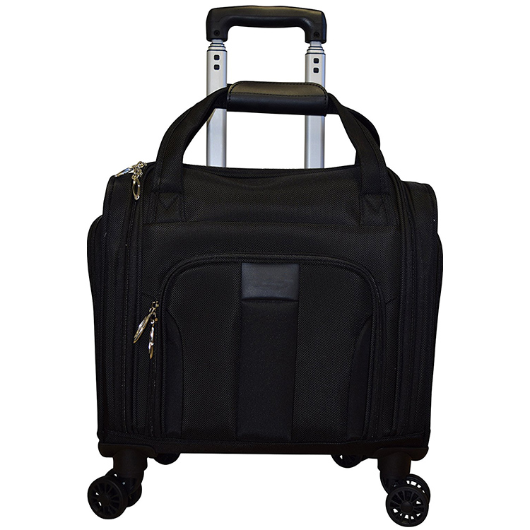 2017 New Designs Black Small Trolley Bag Laptop Tote Briefcase Bag Wheeled