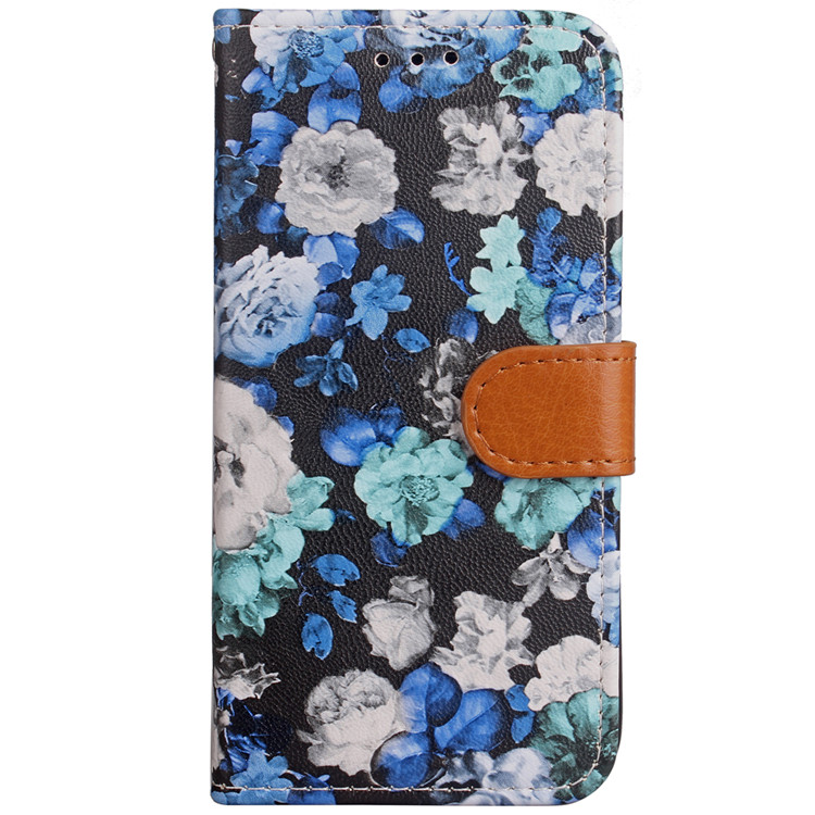 Wholesale Custom Wallet Magnetic Buckle Floral Flower Leather Phone Case for iPhone X Case