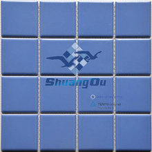Top factory supply cheap price blue color best selling cheap swimming pool tile 73X73mm Y7305