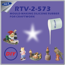 RTV-2-573 Liquid soft silicone rubber at room temperature condensation curing rtv molding silicone rubber for craftwork mould