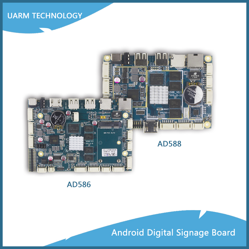 OEM Service ARM Electronic PCBA Board Based on Allwinner A83T Octa Core Processor for Digital Signage Advertising