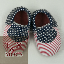 100% Handmade Flag Leather baby girl shoes Soft Baby Moccasins