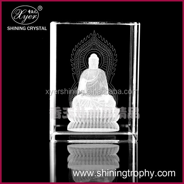 2015 Pujiang Shining 3d laser etched the figure of Buddha