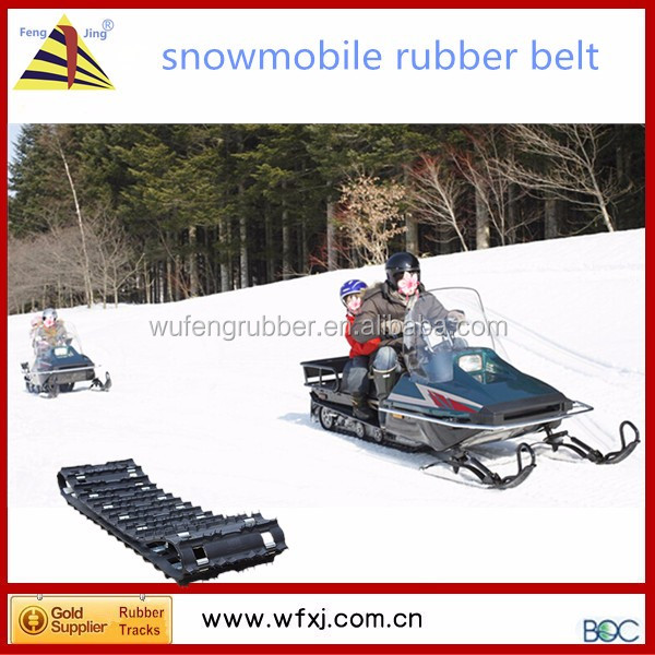 Chinese snowmobile parts/ rubber track crawler width 380mm