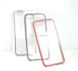 Factory price TPU bumper transparent matte color case back cover for iphone 5/5s