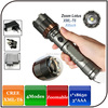 Zoomable 4modes 10W aluminium alloy led cree torch flashlight with attack