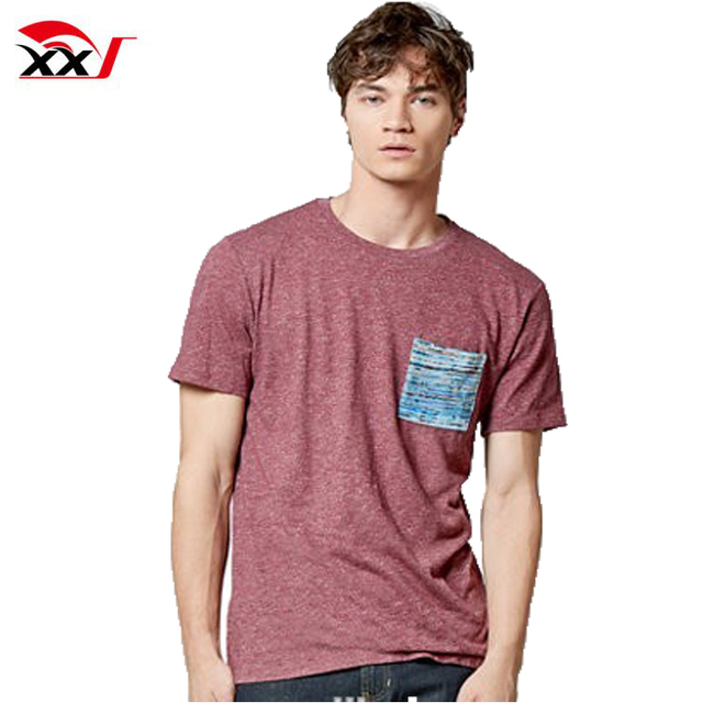 men blank custom pocket bamboo cheap wholesale tshirt