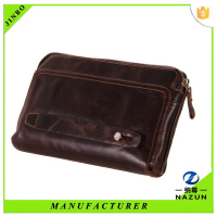 Genuine leather men purse leather passport wallet