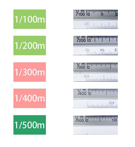 TRIANGULAR METAL SCALE RULER 30cm