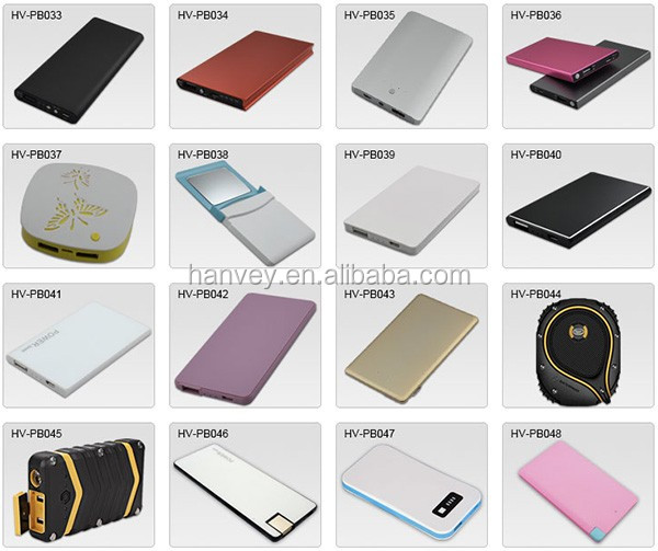 Credit card mobile restaurant rohs menu power bank 2000mah, slim mini portable charger/powerbank