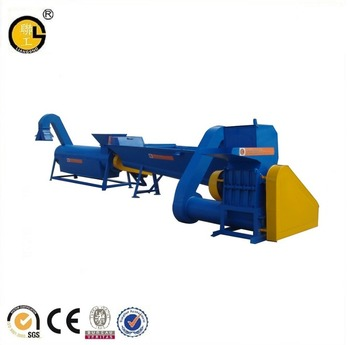 Waste bottles PET plastic recycling machine
