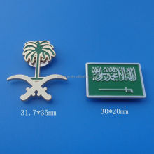 Custom Rectangle Saudi Arabia Badge for National Day Gifts