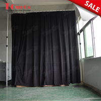 TourGo portable mobile wholesale black pipe and drape curtain for stage backdrop
