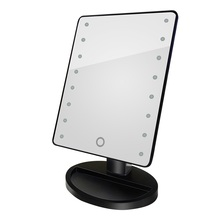 High Quality Led Mirror 16 LED Lights Touch Screen Makeup Mirror Beauty Adjustable 180 Rotating LED Make Up Mirror