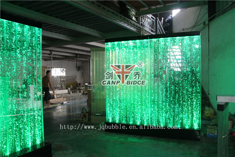 Nightclub interior design led bubble water feature wall background