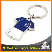 Wholesale bulk metal two sided blank key ring custom soccer jerseys