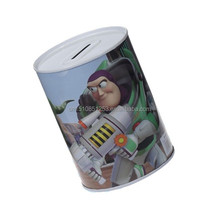 new design custom money storage box tin money box round coin bank