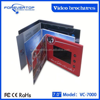 Artifical type new invitation card paper craft video greetings cards