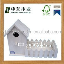 hot selling FSC&SA8000 handmade garden small wood crafts bird house for factory price