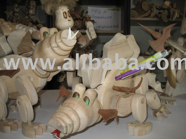 wooden toys, wooden moving figures, wooden dolls
