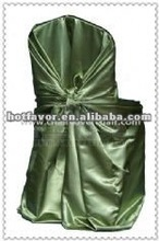 universal satin self-tie chair cover for wedding/ party/ banquet