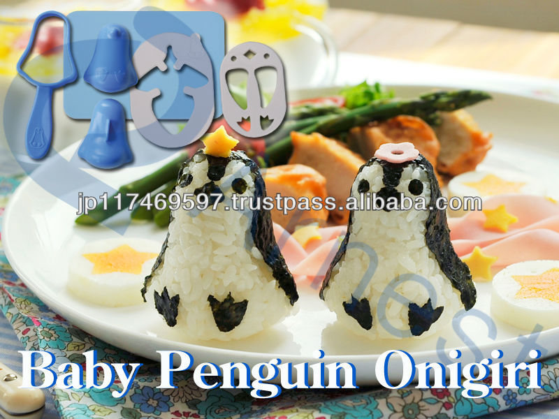 japanese food kitchenware children gift animal toy bento electric lunch box rice bowl ball set Baby penguin onirigi