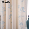 flower curtain embroidery design blackout curtain