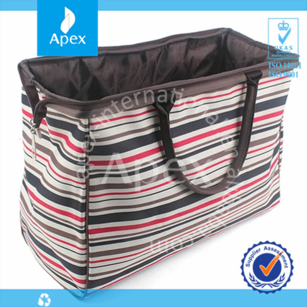 High quality wholesale foldable polyester shopping bag travel bag