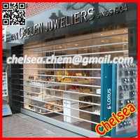 Motorized high quality transparent exterior rolling up shutters