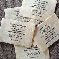 Custom printed clothing label/cheap customized woven labels