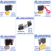 5 Way 3 Position Double Solenoid Air Valve 1/4