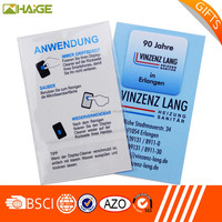 adhesive microfiber screen cleaner with business card