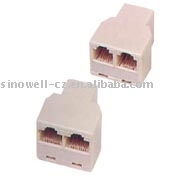 6P2C/6P4C/6P6C Telephone adapter VK50105